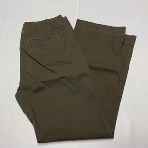 Eddie Bauer Size 10 Brown Straight Leg Pants
